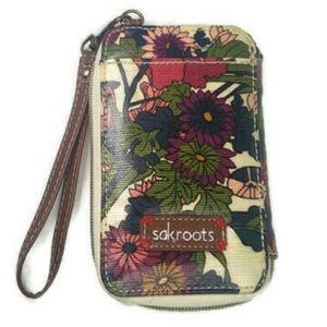 Sakroots Clutch Wallet Wristlet Flowers